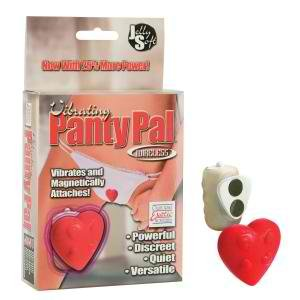 Panty Pal Cordless Silicone Vibrating Heart Romantic Red