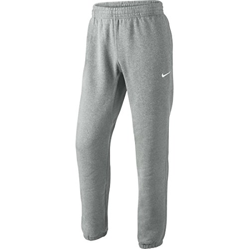 Nike Club Cuff-Swoosh Pantaloni, Dark Grey Heather/White, L