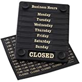 Door Sign - Open/Closed Includes adjustable times.