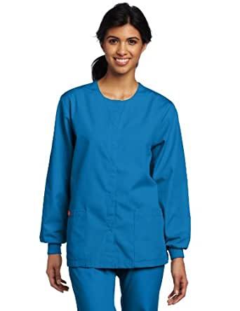 Dickies Medical Scrubs 885306 Women's Missy Fit Every Day Scrubs Round Neck Jacket Island Blue Large