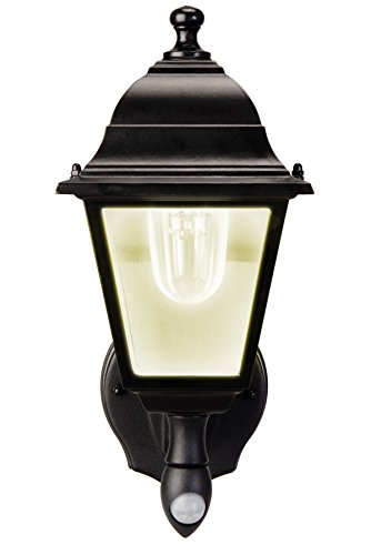 MAXSA Innovations 43319 Black Battery-Powered Motion-Activated LED Wall Sconce