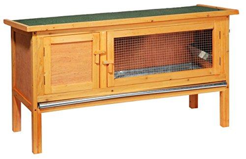 dobar-23306FSC-Klassischer-Kleintierstall-aus-imprgniertem-Nadelholz-mit-Zinkwanne-Ruheraum-und-Dach-mit-Aufstellvorrichtung-115-x-45-x-66-cm