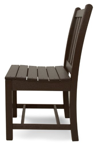 Polywood Tgd100ma Traditional Garden Dining Side Chair Mahogany Furniture Chairs Arm Chairs