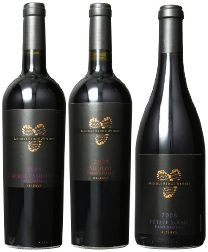 Middle Ridge Winery Southern California Reserve Red Wines Mixed Pack, 3 X 750 Ml