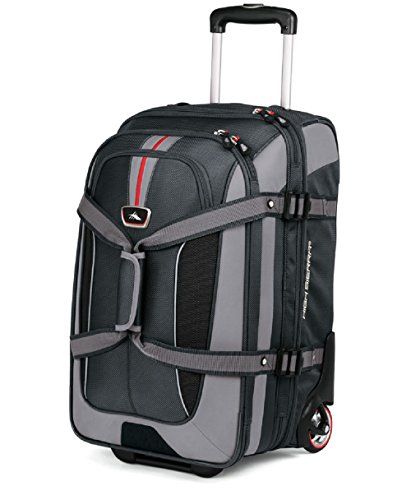 High Sierra AT656 Carry On Expandable Wheeled Duffel with Backpack Straps (Graystone/Shadow/Black) (High Sierra Wheeled Duffel compare prices)