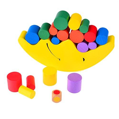 Bloque de Construcción, Finer Shop Equilibrio Luna Marco Bebé Juguete Aprendizaje Temprano Padre-Niño Posee Montessori Ayudas Enseñanza - Amarillo