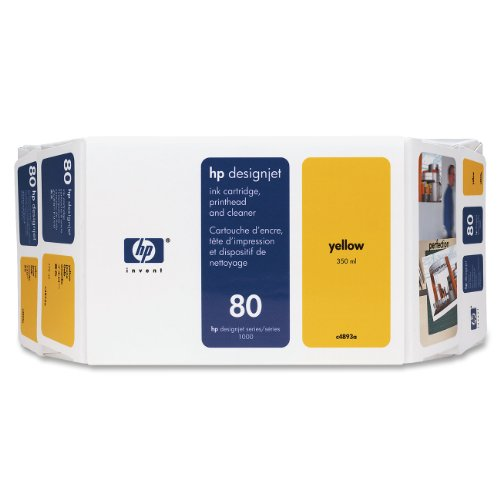 Ink cartridge n°80 value pack yellow 350ml+head+clean (C4893A) HP C5706A