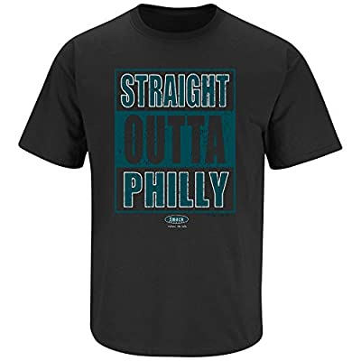 Philadelphia Eagles Fans. Straight Outta Philly Black T Shirt (Sm-5X)