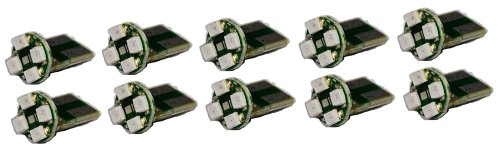 Cutequeen Led Car Lights Bulb Pink T10 3528 4-Smd 194 168 (Pack Of 10)
