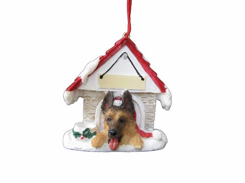 German Shepherd Christmas Ornament, Easy to Personalize