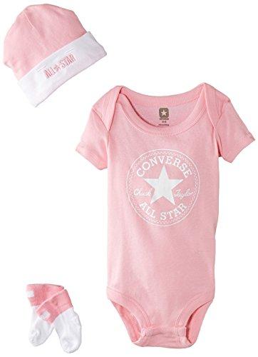 Converse-3-Piece-Conjunto-Beb-Nios-Rosa-Chuck-Pink-06-meses-Talla-del-fabricante-0-6M