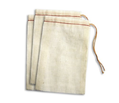 "Purchase Cotton Drawstring Muslin Bags (3"" X 5"" - Pack of 25)"