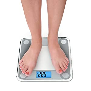 "EatSmart Precision Digital Bathroom Scale w/ Extra Large Backlit 3.5"" Display and ""Step-On"" Technology"