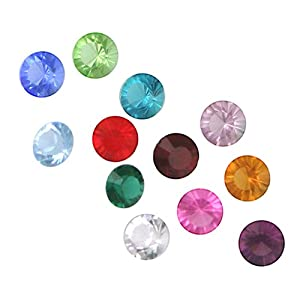 Set of 12 Swarovski Crystal Birthstones for Loving Family Mother's Heart Locket
