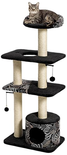 Feline Nuvo Tower Cat Tree Furniture, 22 by 15 by 50.5-Inch Midwest Homes for Pets B0051O3DTU