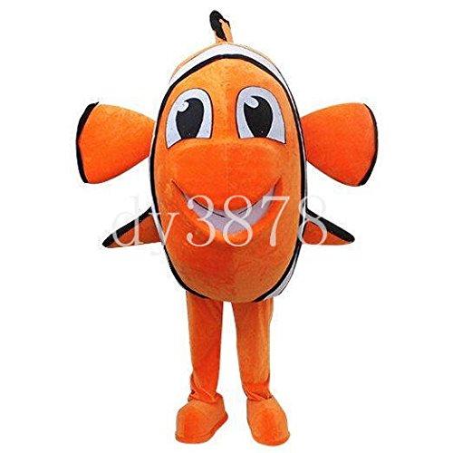 Black beauty New Nemo Clownfish Fish Mascot Costume Fancy Dress Cartoon Character (Fancy Clownfish)