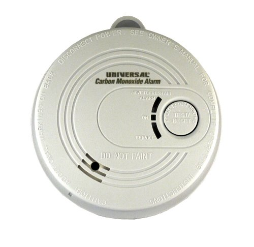 Universal Security Instruments CD-9385 120-Volt AC Wired-In 3-LED Interconnectable Carbon Monoxide Alarm