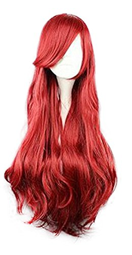 [Mtxc Disney Cosplay Princess Ariel/The Bounty Hunter Wig Red] (Bounty Hunter Costume Accessories)