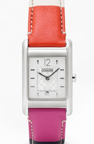 Coach Women's Carlisle Multi-color Leather Strap Watch 14501413