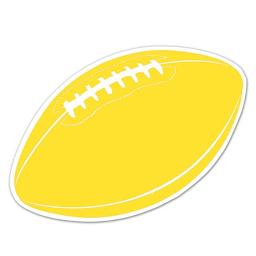 Football Cutout (gold) Party Accessory  (1 count) - 1