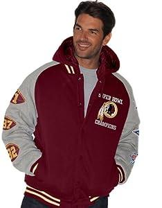 NFL Defender Fleece Commemorative Super Bowl Jacket ~ Washington Redskins ~XL by G-III Sports