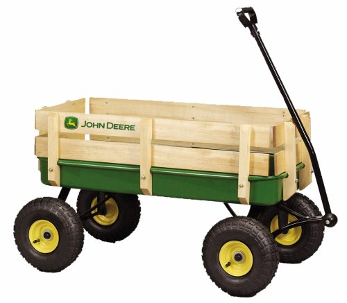 Buy John Deere – 36 in. Steel Wagon with Wooden Stake Sides