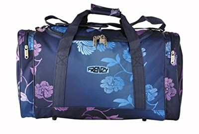 Frenzy®, Fading Flower Pattern, lightest Cabin Size Luggage Holdall Carry On flight bag, fits 55x40x20cm ryan air/easy jet -only 0.5kg, 32 litre capacity (Navy)