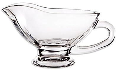 Circleware Saucy Glass Gravy Boat Dish, 10 Ounce, Limited Edition Glassware Serveware