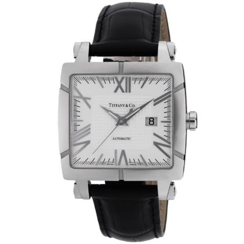 [ティファニー]Tiffany&Co. 腕時計 Atlas Gent Square シルバー文字盤 自動巻 アリゲーター革ベルト Z1100.70.12A21A71A メンズ 【並行輸入品】