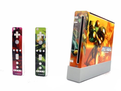 Metroid vinyl Protector Decal Sticker skin for wii N099