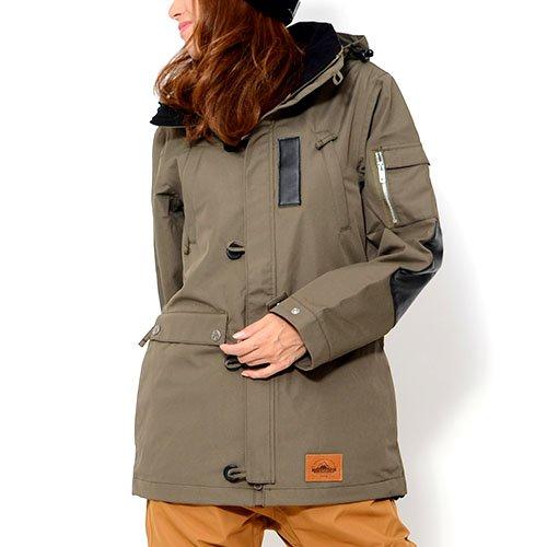 AA HARDWEAR(ダブルエー ハードウェア) スノーボードウェア ジャケット MODS JACKET ガール レディース Mサイズ KHAKI mods-jacket-M-72115313-KHAKI