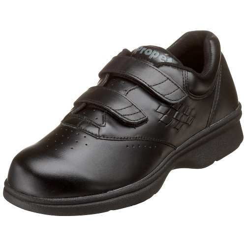 Propet Women's W3915 Vista Walker Sneaker,Black Smooth,10 X (US Women's 10 EE)
