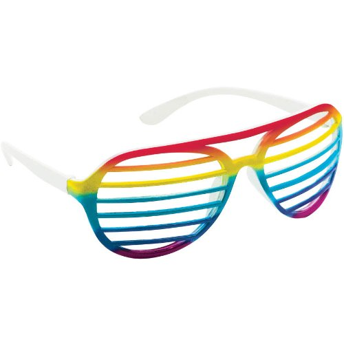 Rainbow Slotted Glasses