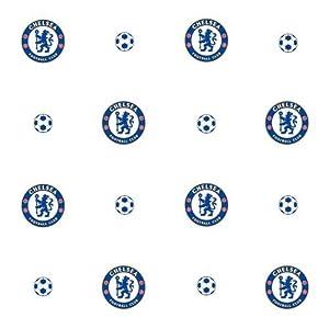 Chelsea F.C. Wallpaper- Wallpaper- width 52cm- length 10.05m- pattern Repeat 17.5- Official Football Merchandise by Wallpaper / Lighting