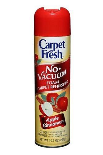 Carpet Fresh 280174 No-Vacuum Aerosol Foam Carpet Odor Eliminator, 10.5 oz. Apple Cinnamon Fragrance