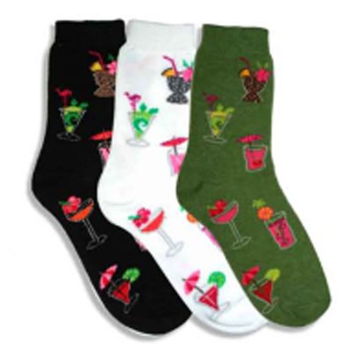 Tropical Drinks Multi-colored 3 Pack Socks