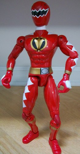 Buy Low Price Disney 12″ Disney Red Power Ranger Bendable Posable Action Figure Doll Toy (B002KYKOVY)