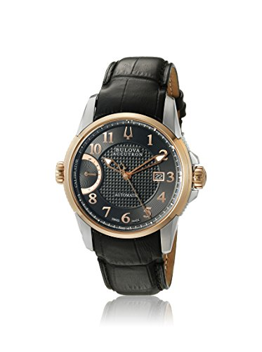 Accutron by Bulova Men's ACCUTRON-65B148 Black/Black Genuine Leather Watch
