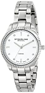 Stuhrling Original Symphomy Allure Women's Quartz Watch with Silver Dial Analogue Display and Silver Stainless Steel Bracelet 607L.01