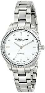 "Stuhrling Original Women's 607L.01 ""Symphony Allure"" Stainless Steel Watch with Diamonds"