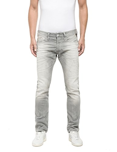 Replay Waitom-Pantaloni Uomo,    Grigio (Grigio Denim 10) W36/L34 (36)