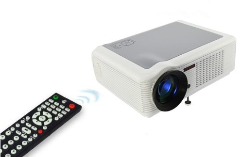 HTP White HD Home Theater 1080P LCD PROJECTOR LED HDMI WII PS3 TV With CE FCC ROHS