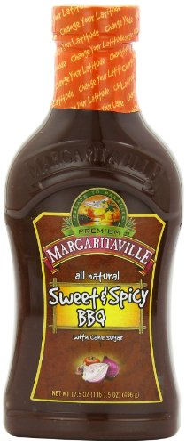 Margaritaville Caribbean BBQ Sauce, Sweet And Spicy, 17.5 Ounce (Pack Of 6)