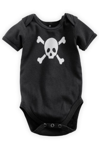 Green 3 Apparel Pirates Organic Baby Playsuit front-136167