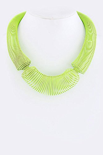 Trendy Fashion Jewelry Neon Color Spring Necklace By Fashion Destination | (Neon Green)