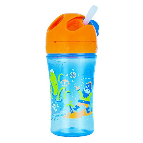 Gerber Graduates Advance Easy Straw Cup with Seal Zone Technology, 10-Ounce, Pirate Design (Gerber Straw Cup compare prices)