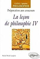 La leçon de philosophie, IV
