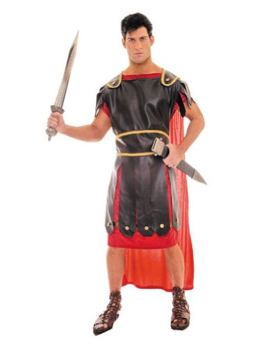 Centurion Black Red One Sz Adult Mens Costume