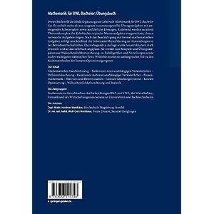 Mathematik für BWL-Bachelor: Übungsbuch: Ergänzungen für Vertiefung und Training (Studienbücher