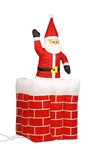 Inflatable Moving Santa in Chimney